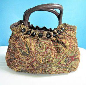 🌻Braciano Earth Tone Paisley Hobo Bag